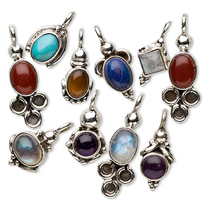 Drops Mixed Gemstones Multi-colored