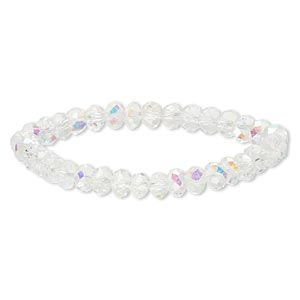 Stretch Bracelets Glass Clear