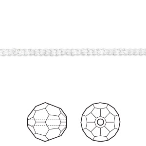 Bead, Swarovski® Crystals, Crystal Passions®, Crystal Clear, 2mm Faceted Round (5000). Sold Per Pkg 144 (1 Gross) 5000