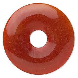 Focal, Red Agate (dyed / Heated), 50mm Round Donut, B Grade, Mohs Hardness 6-1/2 7. Sold Individually