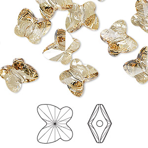Crystal Keystone Bracelet in Crystal Golden Shadow with Filligree Box Clasp