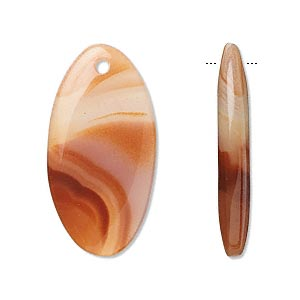 Focal, Agate (dyed / Heated), 30x15mm Oval, B Grade, Mohs Hardness 6-1/2 7. Sold Per Pkg 2