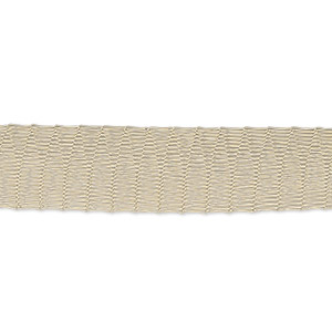 Mesh Tubular Ribbon Enameled Metals Beige / Cream