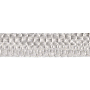 Mesh Tubular Ribbon Enameled Metals Silver Colored