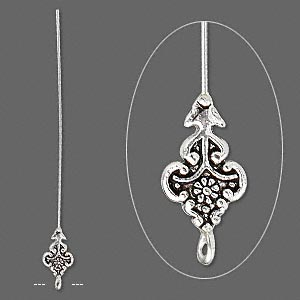 Decorative with Loop Silver Plated/Finished Silver Colored