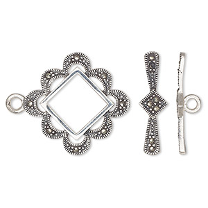 Toggle Sterling Silver Silver Colored