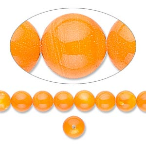 Beads Mother-Of-Pearl Oranges / Peaches