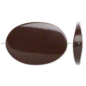 Bead, Resin, Brown, 45x31mm Twisted Flat Oval. Sold Per Pkg 2