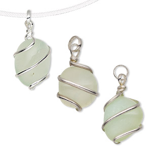 Pendants Agate Greens