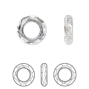 c420d8989 Component, Swarovski® crystals, crystal clear, 14mm faceted cosmic ring  fancy stone (4139). Sold individually. - Fire Mountain Gems and Beads