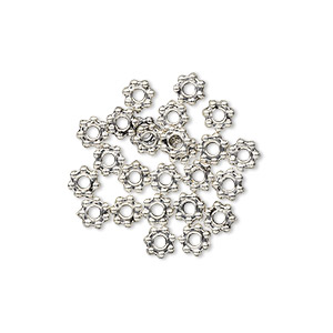 Spacer Beads Pewter Greys