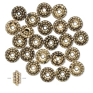 Spacer Beads Gold Plated/Finished Gold Colored