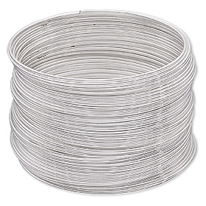 Memory Wire Imitation rhodium-plated Silver Colored