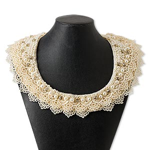 Other Necklace Styles Beige / Cream Everyday Jewelry