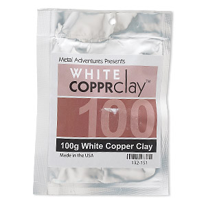 COPPRclay™, White, 1850-degree Formula. Sold Per 100-gram Pkg 132-151