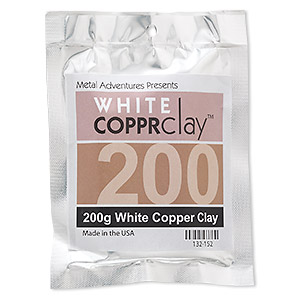 COPPRclay™, White, 1850-degree Formula. Sold Per 200-gram Pkg 132-152
