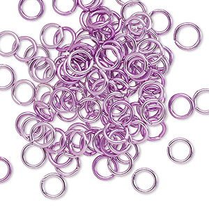 Open Jumprings Aluminum Purples / Lavenders