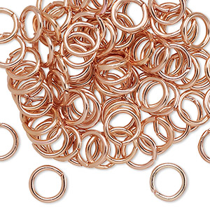 Open Jump Rings Aluminum Copper Colored