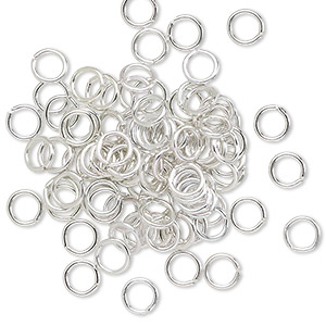 Open Jumprings Aluminum Silver Colored