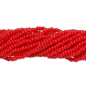3900-4000 pc appr #6837SB 110 Czech Seed Bead Opaque Light Red Preciosa 2mm #11-6 Strand Half Hank