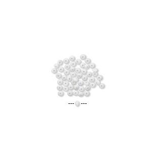 Mini Bead Huggers™, Silicone, White, 1.5x0.5mm Rondelle 0.5mm Hole. Sold Per Pkg 50 6860PB