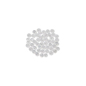 Spacer Beads Silicone Clear