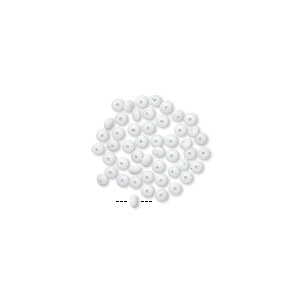 Mini Bead Huggers™, Silicone, White, 2x0.5mm Rondelle 0.5mm Hole. Sold Per Pkg 50 6863PB