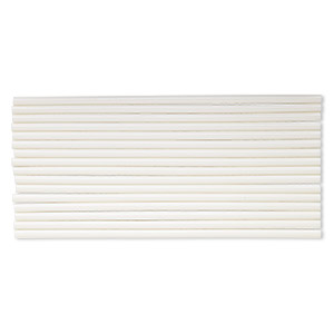 Modeling Melt Stick, Mod Podge®, Opaque Milk Glass White, 10 X 5/16 Inches. Sold Per Pkg 16 24887