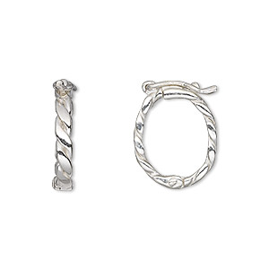 Twister Sterling Silver Silver Colored