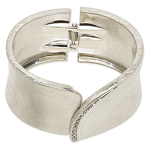 Bangles Imitation rhodium-plated Silver Colored