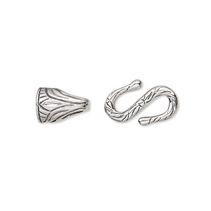 S Hook Sterling Silver Silver Colored
