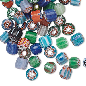 Beads Chevron Glass Multi-colored