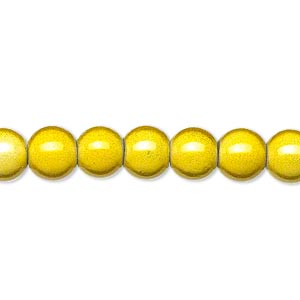 Beads Acrylic Yellows