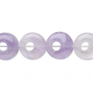 Bead, Amethyst (natural), 13x4mm Round Go-go, B Grade, Mohs Hardness 7. Sold Per 16-inch Strand