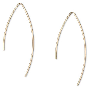 Fishhook Earrings Gold-Filled Gold Colored