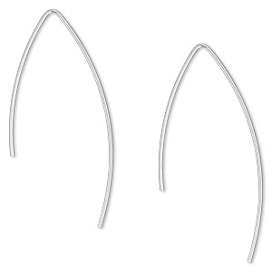 Fishhook Earrings Argentium Silver Silver Colored
