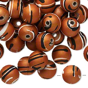 Beads Rubberized Acrylic Oranges / Peaches