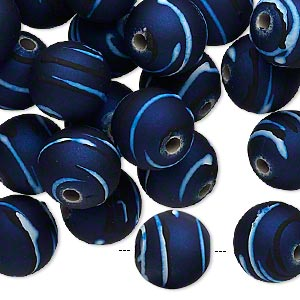 Beads Rubberized Acrylic Blues