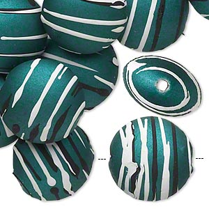 Beads Rubberized Acrylic Greens