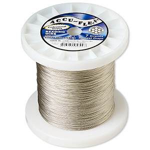 Beading Wire Sterling Silver Silver Colored