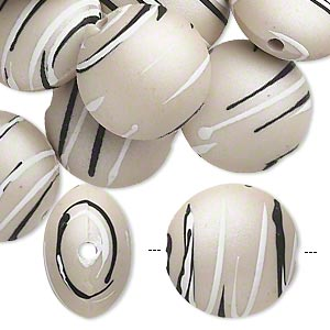 Beads Rubberized Acrylic Greys
