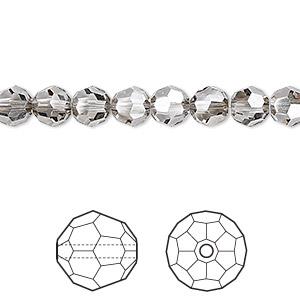 Bead, Swarovski® Crystals, Crystal Passions®, Crystal Satin, 6mm Faceted Round (5000). Sold Per Pkg 12 5000