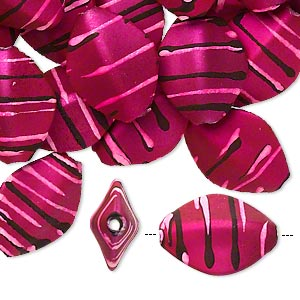 Beads Rubberized Acrylic Pinks