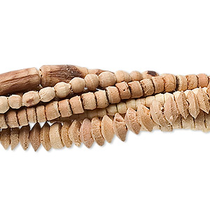 Bead Mix, Wood (natural / Dyed), Mixed Colors, 2mm-10x4mm Mixed Shape. Sold Per Pkg (8) 16-inch Strands