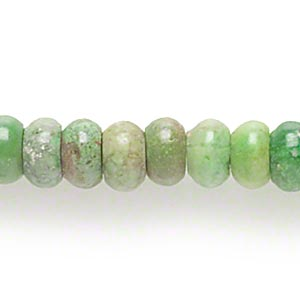 Bead, Magnesite (dyed / Stabilized), Apple Green, 5x2mm-5x3mm Rondelle, C Grade, Mohs Hardness 3-1/2 4. Sold Per 16-inch Strand