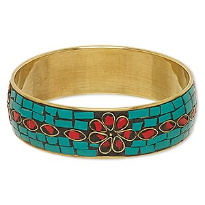 Bangles Brass and Brass-Plated Multi-colored