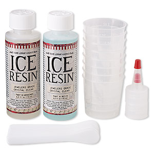 Jeweler's Grade Resin, ICE Resin® 2-part Formula, Clear. Sold Per Pkg (2) 4-ounce Bottles IRR50483