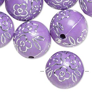Beads Acrylic Purples / Lavenders