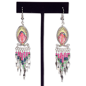 Fishhook Earrings Multi-colored Everyday Jewelry