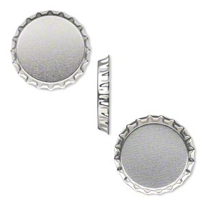 Bottle Caps Steel Silver Colored